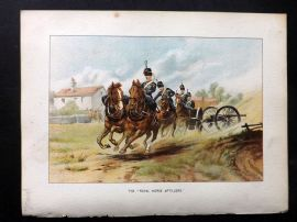 Richards Her Majesty's Army 1890 Military Print. Royal Horse Artillery